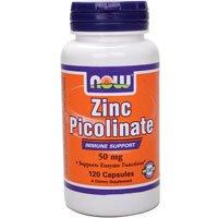 120 Zinc Caps (Now Foods Zinc Picolinate, 120 caps 50mg (2-Pack))