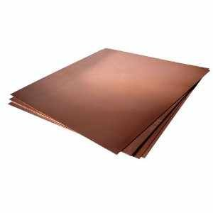 Copper Sheets (12'' X 12'' X .004'', 3 Pieces) by Sri Kaleshwar Publishing