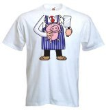 Tribal T-Shirt Men's Butcher Outfit Costume Fancy Dress T-Shirt Large (Mw3 Costumes)