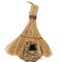 A&E Cage Company Medium Hanging Natural Finch Nest/Hut 7
