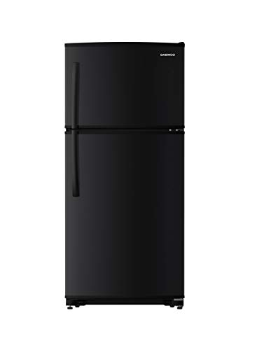 Daewoo RTE18GSBCD Top Mount Refrigerator, 18 Cu.Ft, Black