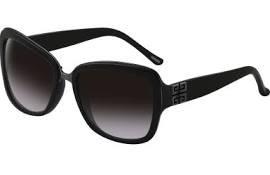 Givenchy Sunglasses SGV827-700X Oversized Sunglasses,Black & Gun,One - Givenchy Oversized