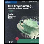 Java Programming - Comprehensive Concepts & Techniques (3rd, 06) by Shelly, Gary B - Cashman, Thomas J - Starks, Joy L - Mick, M [Paperback (2005)]