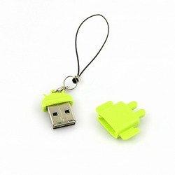 Micro Lector de tarjetas micro SD Robot Android Verde ...