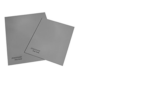 Mennon Set of 2 Gray Card's Size 6''x8'' and 8''x10'', 18% Gray / 92% White
