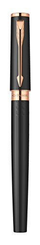 Parker Ingenuity Small Daring Black Rubber and Pink Gold Trim (PGT) 5th Technology Mode Pen (S0959120)