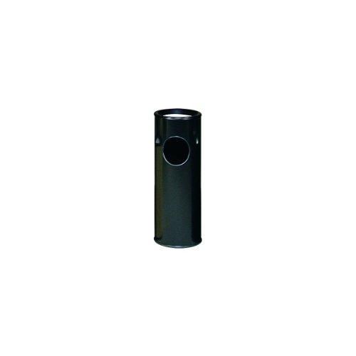 Rubbermaid FG1100E Black Steel Ash/Trash Container with Plastic Liner, 3.5 gallon Capacity, 10