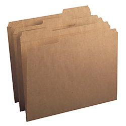 Recycled Reinforced - Smead File Folder, Reinforced 1/3-Cut Tab, Letter Size, Kraft, 100 Per Box (10734)