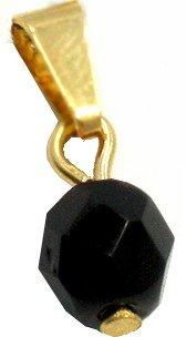 Azabache pendant. Gold filled 3/8