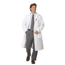 Mens Extra Long Lab Coats, Size: 42 - 6499-42 - EACH - Extra Long Lab Coat