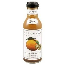 BRIANNAS Dressing, Mandarin Ginger, 12 Ounce (Pack of 6) (Orange Ginger Vinaigrette Salad Dressing)