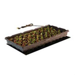 Hydrofarm MT10006 Seedling, 17 Watts, 9 x 19.5 Inches Heat Mat, 9 inch x 19-1 2 inch, Black