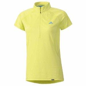 Adidas Terrex Swift 1/2 Zip SS Shirt - Women's Bahia Glow Small
