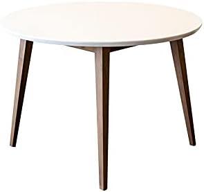 ASHCROFT Mid-Century Modern Charlotte White Top Walnut Dining Table