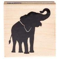 Stamps Elephant - Elephant Silhouette Rubber StampNew by: CC