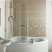 corner bath shower screen. ideal standard - create offset corner bath curved shower screen m