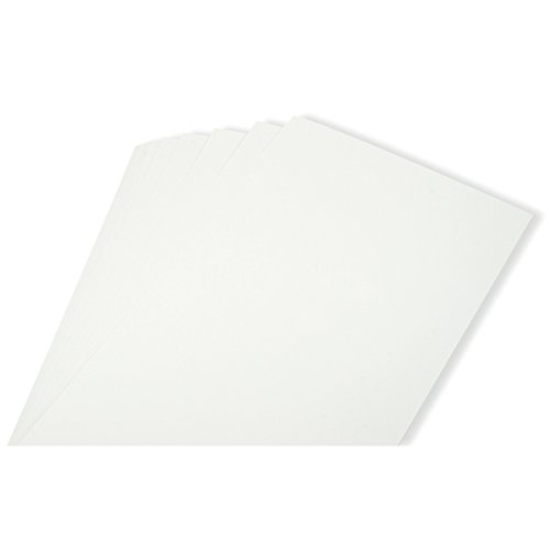 QUICKUTZ Lifestyle Crafts Adhesive Media, 6-Inch by 12-Inch Chipboard, 12 sheets, white