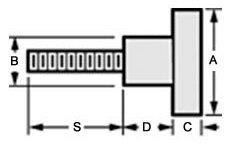 Monroe Hardware - 60002 - Stainless Steel Knob 5/16-18 x 1.18 stud (Quantity: 1)