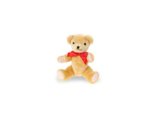Heinrich Bauer 4120 Pia Mohair Bear with Movable Joints Plush Toy, 20 cm, Gold, Multi Color ()