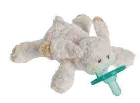 (Mary Meyer OATMEAL BUNNY WUBBANUB w Attached Soothie Pacifier by Mary Meyer)