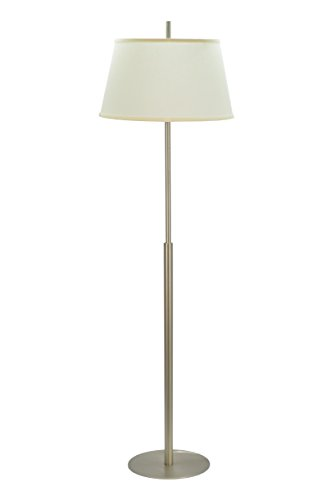 Aspen Creative 45001, 1-Light Metal Floor Lamp, Transitional Design in Matte Brushed Nickel, 62