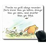 """Winnie The Pooh Quotes Simple Design STYLE Custom Printed Oblong Gaming Mousepad Standard Size 220mm*180mm*3mm Mouse Pad /Rectangle Mousepad in 9""""*7"""""""