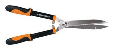 Fiskars Hedge Shears Coating, Rust Free, Self-Sharpening, Serrated (Serrated Hedge Shear)