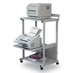 ** Max Stax Dual Purpose Printer Stand, 3-Shelf, 25w x 20d x 42-1/2h, Gray