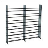 TransDeco Glass Multimedia CD/DVD Rack for 792 CD 552 DVD, Black by TransDeco
