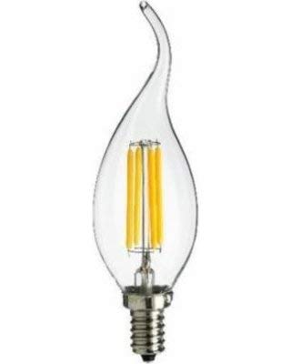 12V Low Voltage Input Clear Torpedo Tip Decorative Style LED Light Bulb 4W Candelabra E12 Screw Base LED Retro Fit Light Bulb Torpedo Tip 4 Watt 10//PK HC Lighting