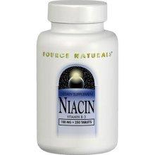 Source Naturals Niacin 100mg, 100 comprimés (lot de 2)