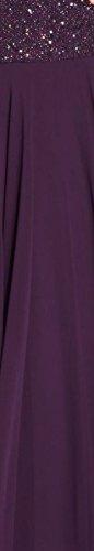 J Kara Femmes Popover Embelli Robe Formelle Pourpre
