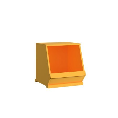 Galvanized Storage Cube - Chelsea Lane Stackable 1 Bin Storage Cube (Yellow)
