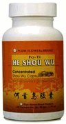 Fo Ti Root 100 Caps - He Shou Wu Capsules, Concentrated Extract - Fo-Ti Root, Polygonum Multiflorum, 100 Veggie Caps by Plum Flower