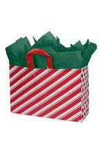 (Sprinkles Gifts 25 Large Peppermint Stripes Christmas Gift Wrap Wrapping Plastic Bags)
