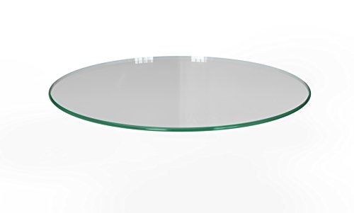 Milan RD303010PEC 30 Round Tempered Glass Top 3 8 Thick with Pencil Polish Edge