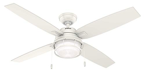 52 Ocala Ceiling Fan with Light Black Fresh White