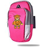 [Creamfly Halloween Pumpkin Bear Armband Arm Bag Package For Sports Running For Iphone Samsung Galaxy Key] (Duke Halloween Costume)