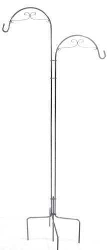 Quicor 64215 Deco Double Offset Shepherd Plant Hook, 73-Inch and 78-Inch, Brown Pearl by Quicor