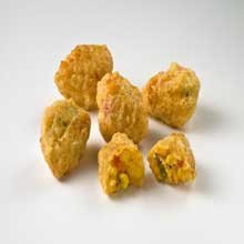 Anchor Hocking Battered Spicy Jalapeno and Cheddar Corn Nuggets, 12 Pound -- 1 each.