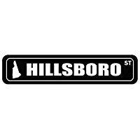 (Hillsboro Street - US Cities - Street Sign [ Decorative Crossing Sign Wall Plaque ])
