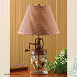 Park Designs Butter Churn Lamp,Red, Clear by Park Designs