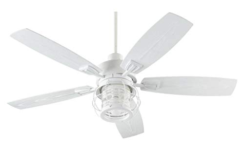 Buy quorum one light studio white outdoor fan