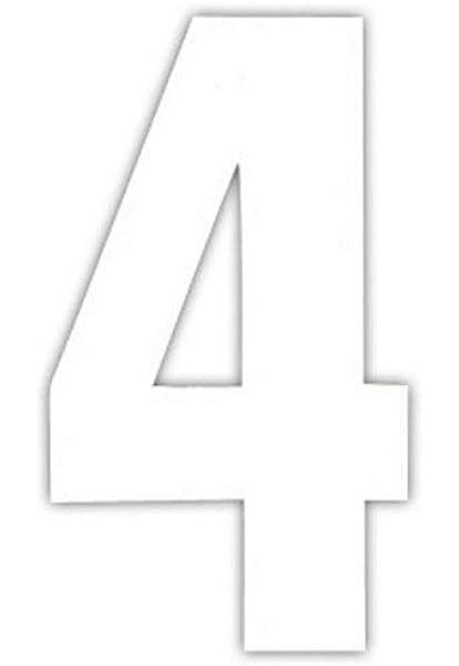 """2 x 7/"""" Vinyl Wheelie Bin House Numbers Adhesive Wheely Waterproof Stickers"""