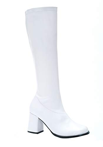 Ellie Shoes Go-Go Boots White (Adult Boots) Women's (Size 8) Women's Costume -