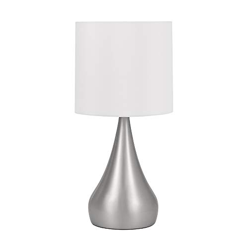 Curved Linen - Catalina Lighting 21434-000 Modern Curved Metal Table Lamp with Linen Shade, 18