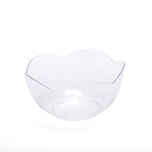 BalsaCircle 72 pcs 2 oz Clear Plastic Mini Scalloped Edge Bowls - Disposable Wedding Party Catering Tableware