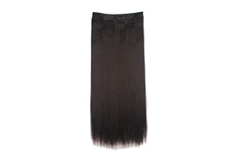 Haironline 3/4 Full Head Hair Extensions 5 Clips One Piece 24-30 inches