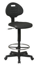 Office Star Urethane Seat and Back Contour Standard Drafting Chair with Adjustable Footrest, Black