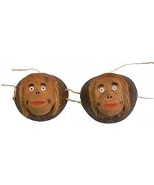 Forum Novelties Coconut Monkey Costume Bra Adult Standard Adult Coconut Bra